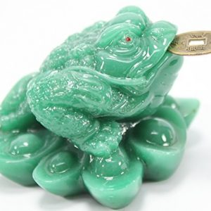 Fortune Coin Green Money Toad/ Frog /Chan Chu – Feng Shui Chinese Charm of Prosperity Decoration Gift US Seller