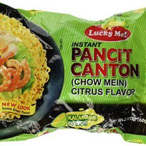 Pancit Canton Citrus Flavor (Kalamansi) Chow Mein – 6 x 2.12 oz by Lucky Me