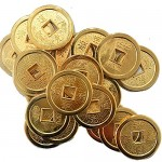 20pcs Chinese Fortune Coins Feng Shui Golden Coin + Gift BAG Y1046