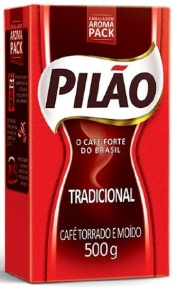 Café Pilão | The Full-Bodied Coffee From Brazil – Medium Dark Roast 17.60 OZ (500g)