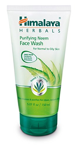 Himalaya Purifying Neem Face Wash for Mild Acne, 5.07 Fl Oz (150ml)