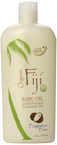 Organic Fiji Raw Cold Pressed Coconut Oil, 12 oz.
