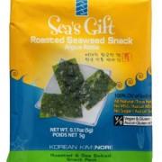 Sea's Gift Korean Seaweed Snack (Kim Nori), Roasted & Sea Salted