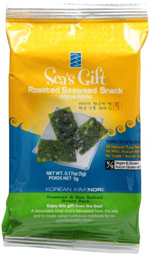 Sea's Gift Korean Seaweed Snack (Kim Nori), Roasted & Sea Salted
